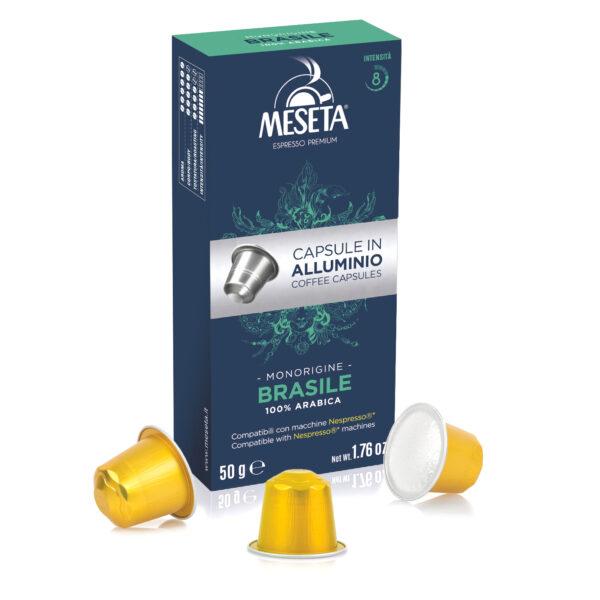 Nespresso* compatible aluminium capsules